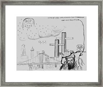 911 New York City Framed Print by Tibi K