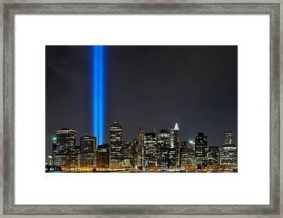 911 Skyline Framed Print by Paul Van Baardwijk