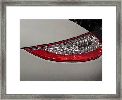 911 Taillight Framed Print by Kelly Mezzapelle