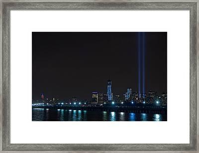 911 Tribute In Lights 2 Framed Print