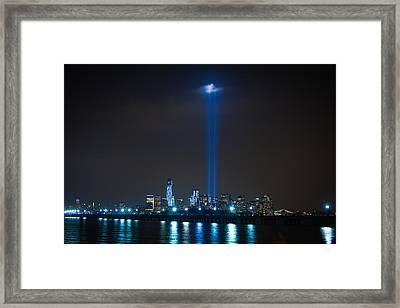 911 Tribute In Lights Framed Print by Douglas Adams