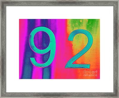 92 Framed Print