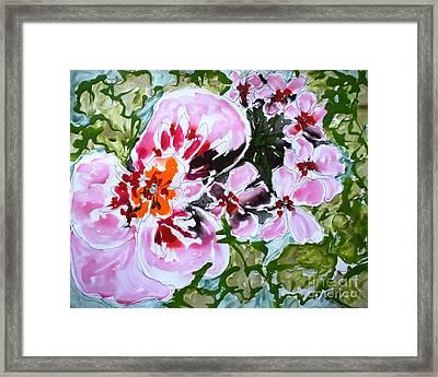 Mann Flowers Framed Print by Baljit Chadha
