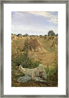 94 Degrees In The Shade, 1876 Framed Print by Sir Lawrence Alma-Tadema