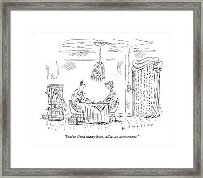 You've Lived Many Lives Framed Print by Barbara Smaller