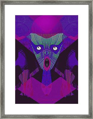 948 - The  Howling  ... Framed Print by Irmgard Schoendorf Welch