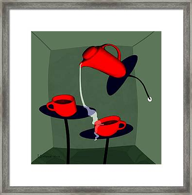950 - Coffee  Perverse Framed Print by Irmgard Schoendorf Welch