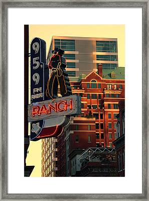 95.9 The Ranch  Framed Print