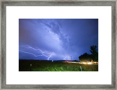 95th And Woodland Lightning Thunderstorm View Framed Print by James BO  Insogna