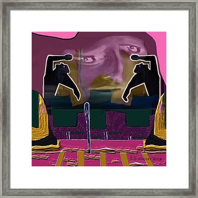 966 - Rage  Framed Print by Irmgard Schoendorf Welch