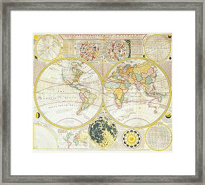 Antique Map Framed Print