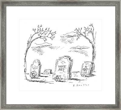 New Yorker April 24th, 2000 Framed Print by Barbara Smaller