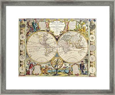 Antique Map Framed Print by Baltzgar