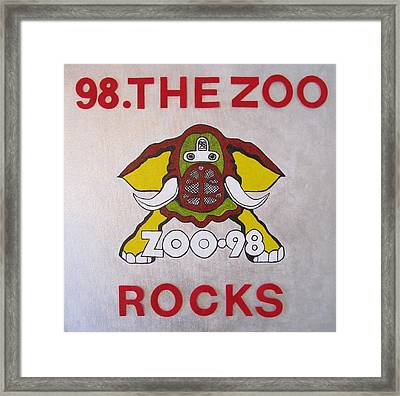 98.the Zoo Rocks Framed Print by Donna Wilson