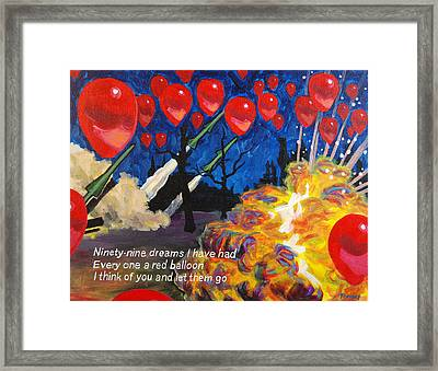 99 Red Balloons Framed Print