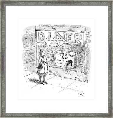 Captionless Framed Print by Roz Chast