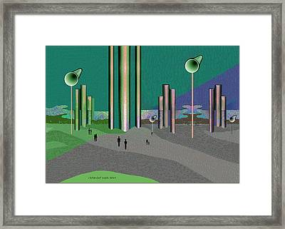 993 -  The Sound Of Silence   Framed Print by Irmgard Schoendorf Welch