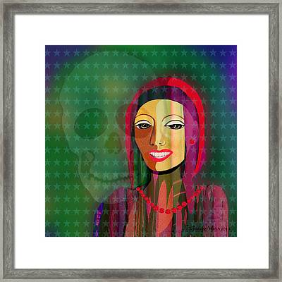 994 -  The   Lady With Beautiful Teeth Framed Print