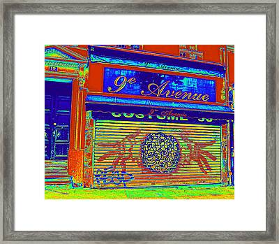 Framed Print featuring the photograph 9th Avenue by Rosemarie Hakim