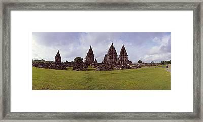 9th Century Hindu Temple Prambanan Framed Print