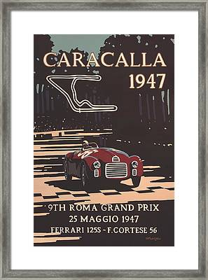9th Roma Grand Prix 1947 Framed Print by Georgia Fowler