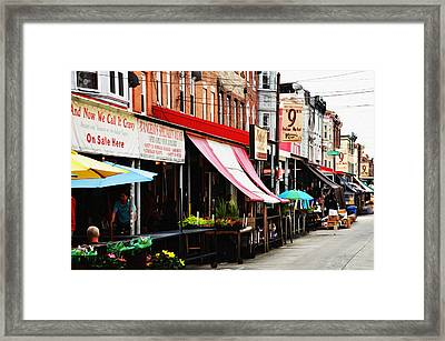 9th Street Italian Market Philadelphia Framed Print by Bill Cannon