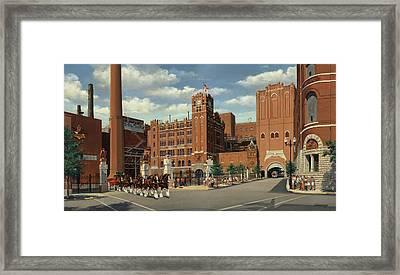 9th And Pestalozzi Brewery Framed Print by Don  Langeneckert