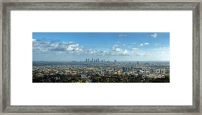 A 10 Day In Los Angeles Framed Print by David Zanzinger