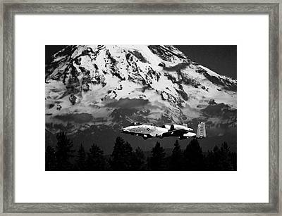 A-10 Over Mt. Rainier Framed Print