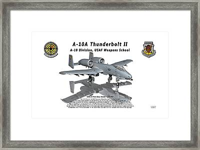 A-10a Thunderbolt II With Reflection Framed Print by Bob Tyler
