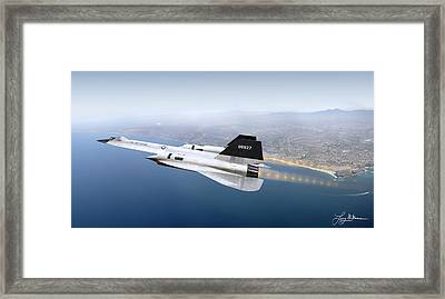 A-12 Blackbird Framed Print