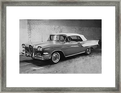 A 1958 Edsel Convertible Framed Print by Underwood Archives