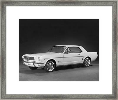 A 1964 Ford Mustang Framed Print by Underwood Archives