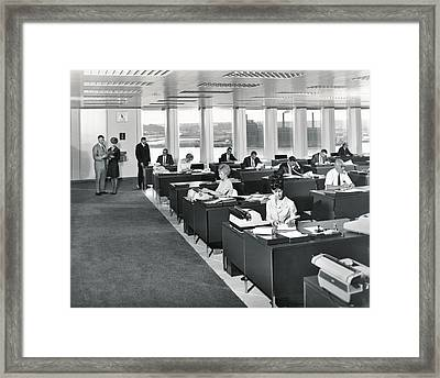 A 1965 Modern Office Framed Print by Underwood Archives