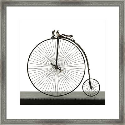 A 52 Inch Ordinary Bicycle, Cerca 1880 Framed Print