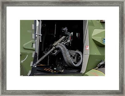 A 7,62mm Machine Gun Framed Print by Timm Ziegenthaler