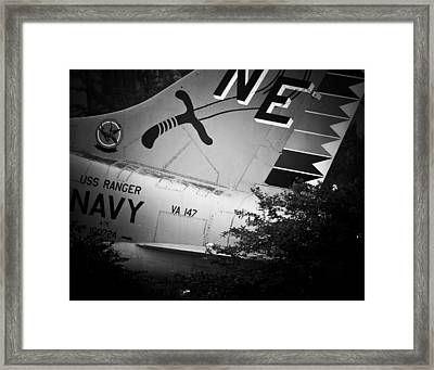 A-7e Tail Framed Print by Maggy Marsh