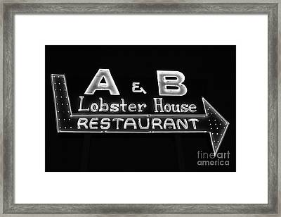 A And B Lobster House Framed Print by Rick Bravo