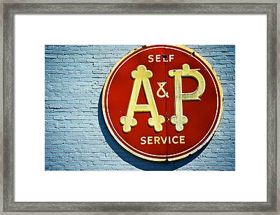 A And P Framed Print