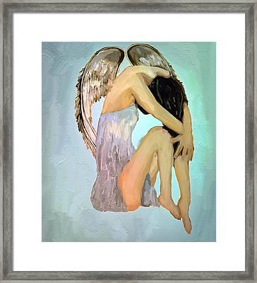 A Angels Tears Framed Print by Iris Piraino