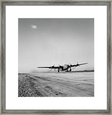 A B-24 Bomber Of The U.s. Army 9th Air Framed Print