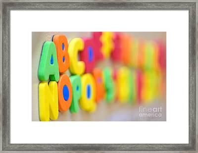 A B C D E F G Framed Print by Amy Cicconi
