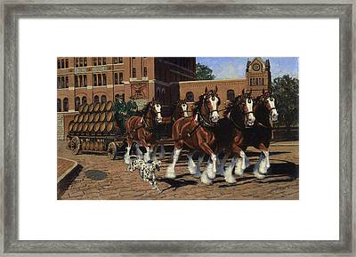 Five Horse Hitch - Dalmation Framed Print