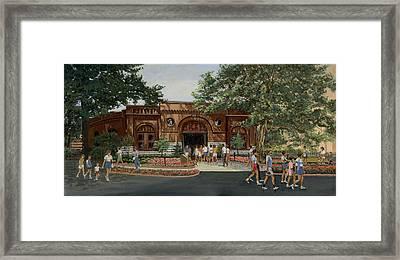 Busch Stable Exterior  Framed Print