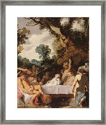 A Bacchanalian Feast, C.1617 Framed Print by Johann Liss or Lis or von Lys