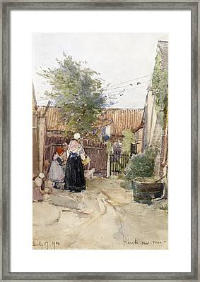 A Back Garden Berck Sur Mer Framed Print by Patty Townsend Johnson