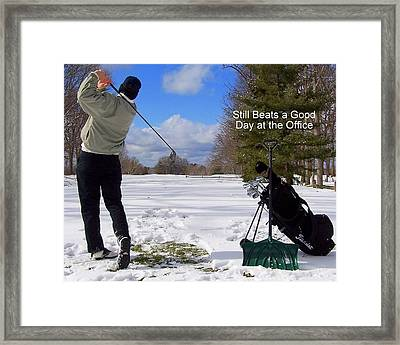 A Bad Day On The Golf Course Framed Print