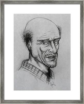 A Bald Guy Framed Print by Joaquin Maldonado