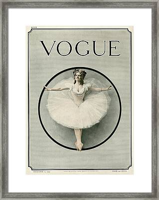A Ballerina Framed Print by Artist Unknown
