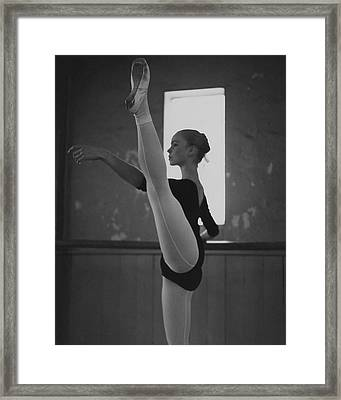 A Ballet Dancer Framed Print